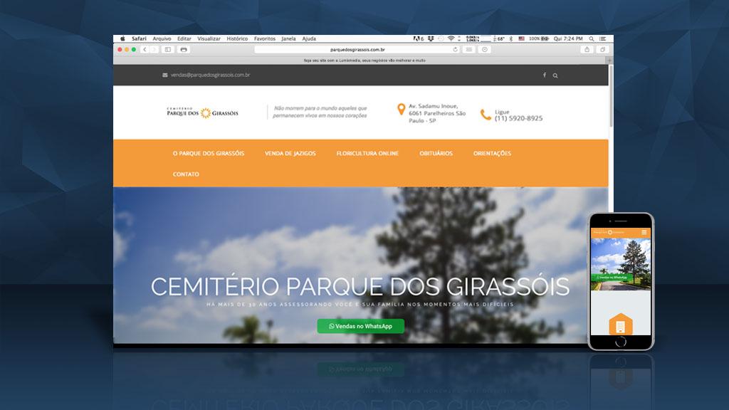 Site Parque dos Girassóis