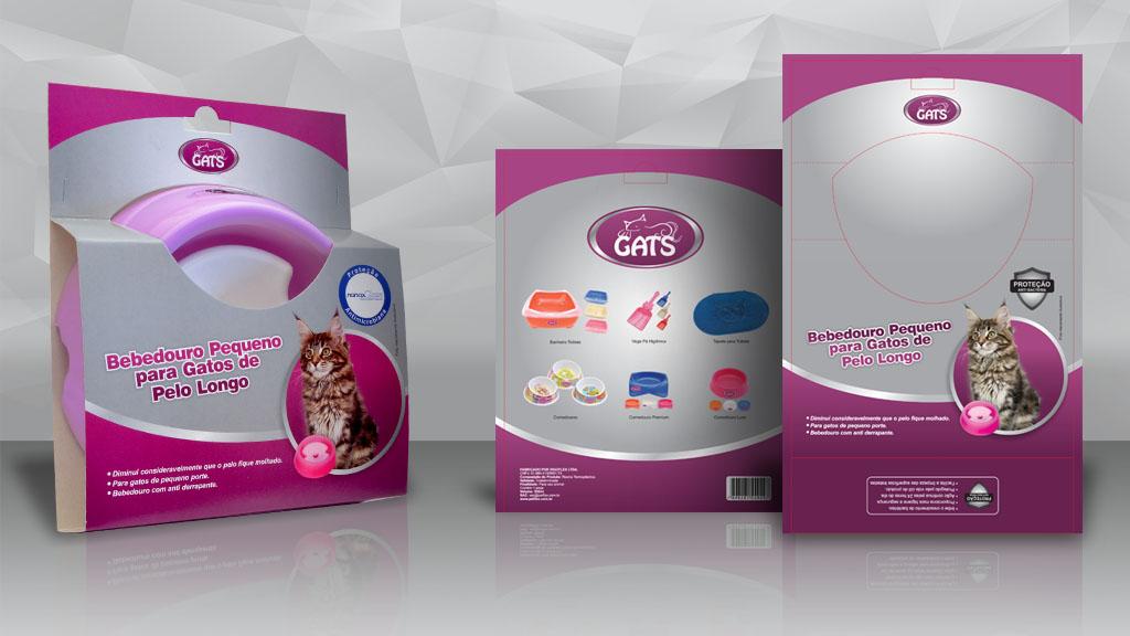 Embalagem para comedor Gats