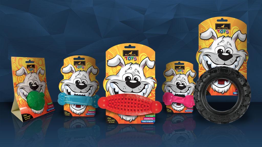 Cartelas para Mordedor Pet Flex Toys