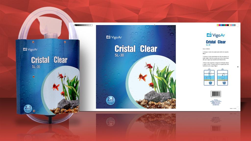 Embalagem Vigo Ar - Cristal Clear - Arte - Design