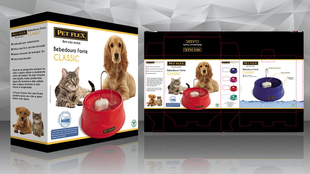 Caixa embalagem Pet Flex - Lumixmedia