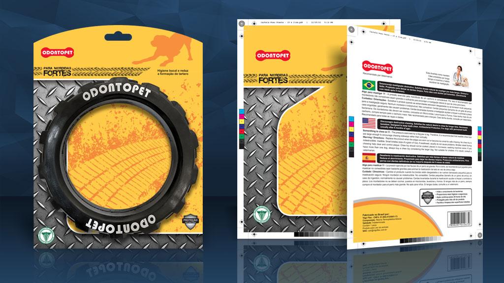 Cartela para produto Odontopet - Lumixmedia